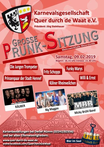 Grosse Prunksitzung @ Mehrzweckhalle Meiersheide | Hennef (Sieg) | Nordrhein-Westfalen | Deutschland